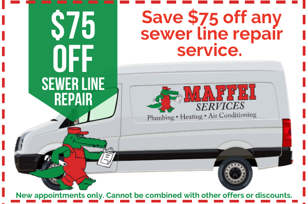 image of sewer line repair coupon